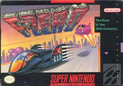 Box artwork for F-Zero.