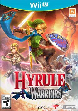 Box artwork for Hyrule Warriors.