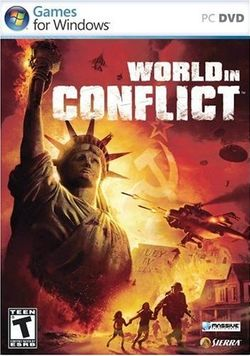 Box artwork for World in Conflict.