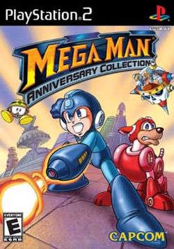 Box artwork for Mega Man Anniversary Collection.