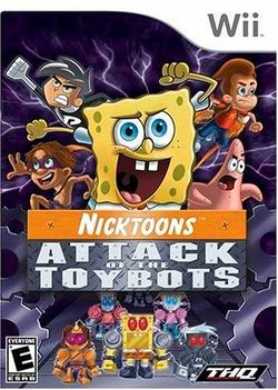 Box artwork for Nicktoons: Attack of the Toybots.