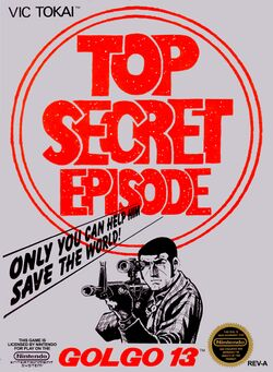 Box artwork for Golgo 13: Top Secret Episode.