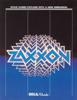 Box artwork for Zaxxon.