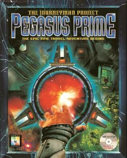 Box artwork for The Journeyman Project: Pegasus Prime.