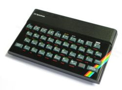 The console image for Sinclair ZX Spectrum.