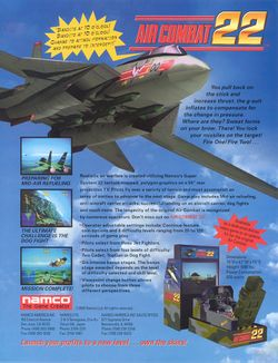 Box artwork for Air Combat 22.