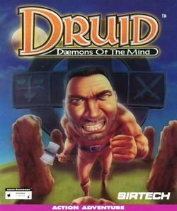 Box artwork for Druid: Daemons of the Mind.