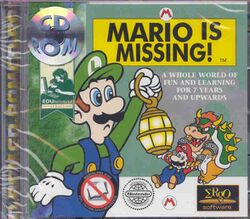 Box artwork for Mario Is Missing!.